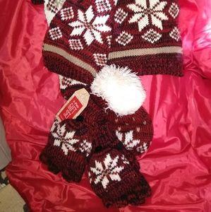 3 piece gift set: Scarf, Hat, Gloves